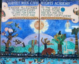 Mural with our Pledge